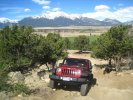 Jeeping with Mt Princeton in the background