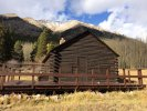 Historic building in ghost town of Winfield, CO