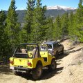 Headed up a Colorado 4x4 road